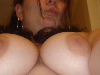 oh those titties are just tooo hot for me.... can hardly resist to suck on those gigantic nipples.... oh they are great! im sooo hard for you right now