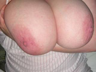 Want to have fun between those amazing tits of yours! I want to slide my big,hard cock in there and tit fuck you and cum all over those fabulous floppers!