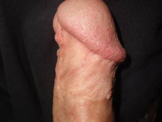 A photo of my cut pierced dick.Little foreskin left and big head. Hope you'll enjoy/comment