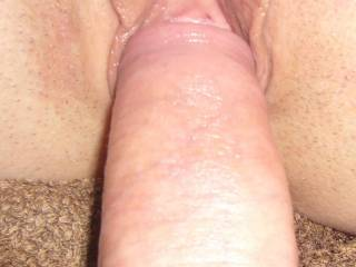 love this when my cock is about to slide into my g/f,s wet and juicy sweet tasting pussy