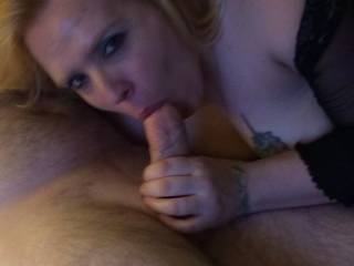 Sasha sucking a strangers cock