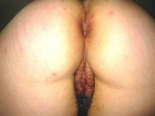 Ass & Hairy pussy Close up
