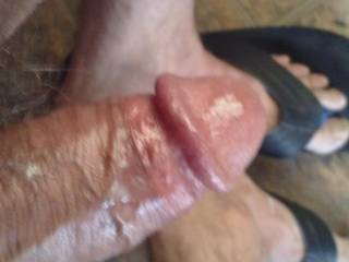 My cock and feet