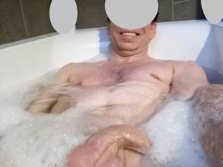 Soft cock in bath