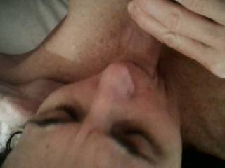 From her Pussy to her mouth. How long would you last in this position? Always exciting watching her sucking cock and waiting for a facial. That is coming soon!