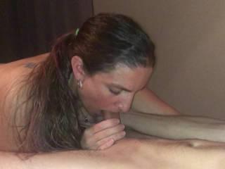 slut wife blows friend again