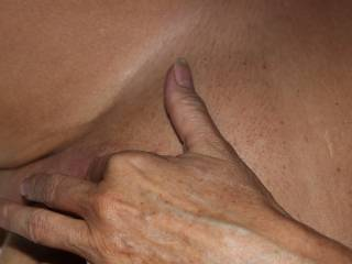 A little pussy fingering.