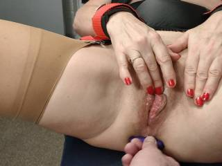 My bondage orgasms had me squirting like a fire Jose, but still my clit needed attention. Do you think you could have teased some more squirt out?