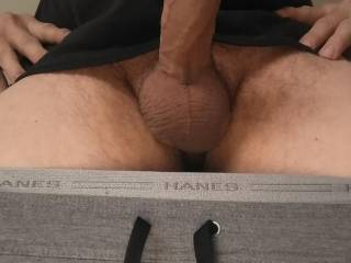 Showing my uncut dick ready for a juicy n pink pussy
