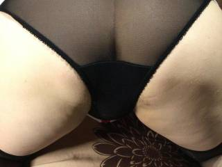 Sheer knickers showing with my uniform pulled up for you zig boys x