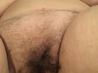Time to trim Texas big tittys hairy pussy