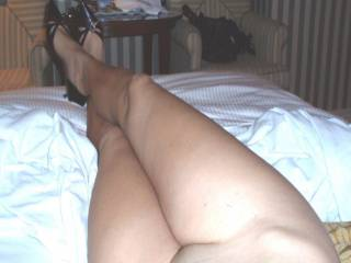 What do you think of my long legs & sexy high heels?