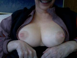polly You have the most amazing tits! bert have a little soft suck on them for me......for polly :)