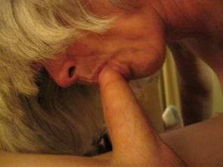 I would love to have those sweet lips around my nice hard cock ;)