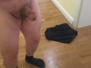 my tiny 5 inch cock fully erect
