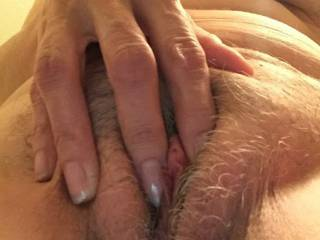 A little clit squeezing? Does he sometimes put his tongue between your fingers as you do that? I love to do that with my partner, though she often then finishes herself and wants me to play at the same time and cum while she watches.