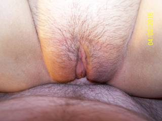 stretched and filled by his huge pumped cock about to make me squirt