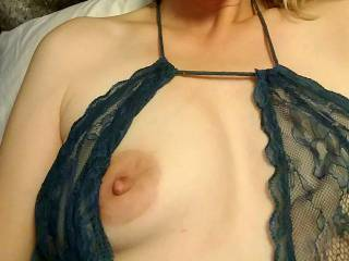 the peekaboo part of this lingerie makes for some sexy fun