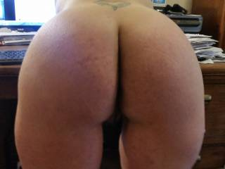 here she is bent over ready for my cock, we were playing on cam you can see the view everyone got.