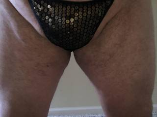 I would like to be in a room full of people while wearing only my wife's panties. Do you think I would get attention in these?
