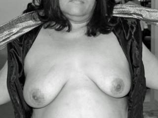 My tits exposed for your pleasure!