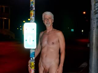 Wanted to take some photos of me naked standing next to this Key West icon (Mile 0 marker for US Hwy 1), and a woman passing by on a bike agreed to take the photos. Several people walked past and they all thought it great fun.