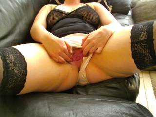 Yeah honey, but first I have to give you a good long licking, pull your panties down and off slowly, then as I fuck you good and hard I can smell your sexy panties and pussy juice while I fuck you!