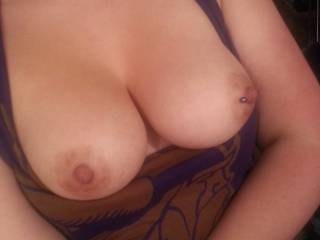 What beautiful breasts! Would love to play with your sexy body sometime! Love to orally pleasure a woman.