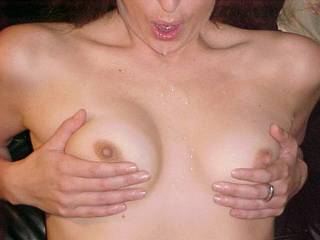 The moderators wouldn't let me post this b/c the qualtiy was too bad. But here I am getting my little tits cummed on! Hope you can see it and like it! http://www.zoig.com/play/4785837-cum-cumshot-small-tits-wife-hotwife