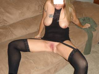 This is the shot I snapped before I proceeded to devour her tasty shaved pussy! She was amazing!!!