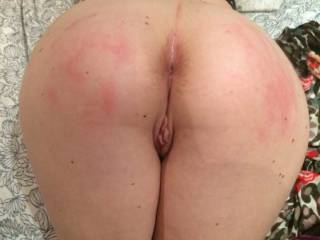 Naughty girls deserve a good spanking till their ass is pink and stinging, and their pussy has got all swollen and aroused and needs a good big cock fucking xx