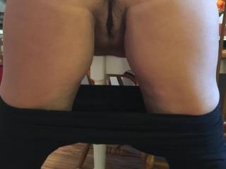 Just after the gym, hubby bent me over the kitchen table and fucked me from behind...mmm, love that!!
