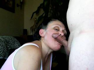 she suck my cock dry  anyone else want her to suck them dry?