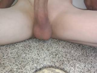 Getting ready to stroke my cock and cum. Any ladies want to help?